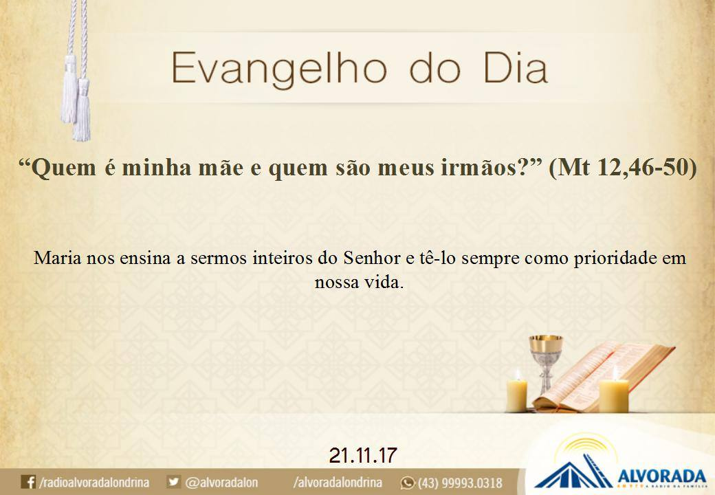EVANGELHO 211117